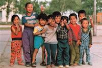 モンゴルの子供たち